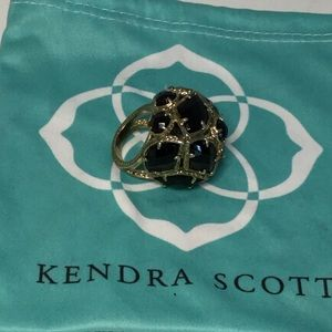 Kendra Scott Black Poppy Dome Ring